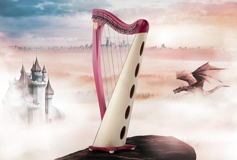 新34弦轻张力扳键竖琴——德雷克